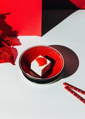 Japanese tofu with salmon roe