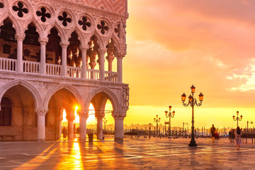 Fototapete - San Marco square at sunrise, Venice, Italy