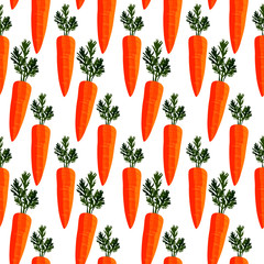 seamless pattern with pictures of carrots