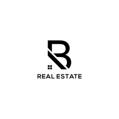 B real estate logo vector