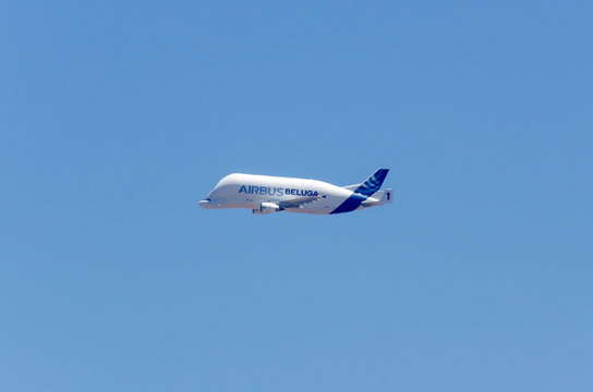 Airbus beluga flying