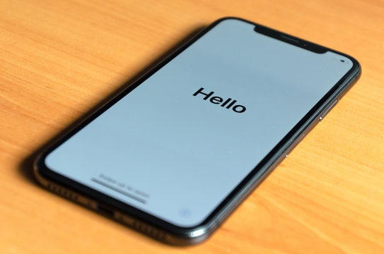 iphone greeting with a hello