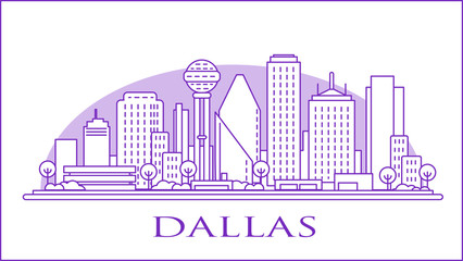 Wall Mural - Dallas Texas USA urban skyline