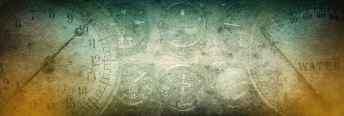 Mechanical and steampunk grunge background. Abstract old conceptual background on history, steampunk, industry, science, etc. Retro style.