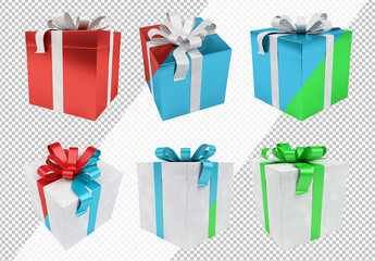 Winter Holiday Present Icon Set