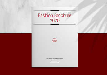Brochure Layout with Red Accents