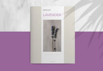 Business Brochure Layout with Purple Accents