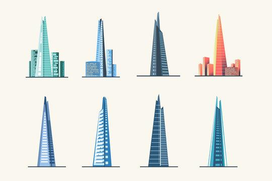 Cityscape over London architecture