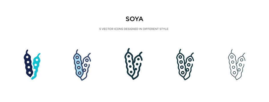 soya icon in different style vector illustration. two colored and black soya vector icons designed in filled, outline, line and stroke style can be used for web, mobile, ui