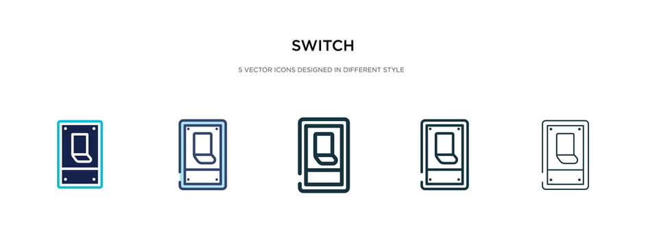 switch icon in different style vector illustration. two colored and black switch vector icons designed in filled, outline, line and stroke style can be used for web, mobile, ui