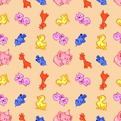 Photo sur Aluminium Hibou pattern animals on a background of powder color