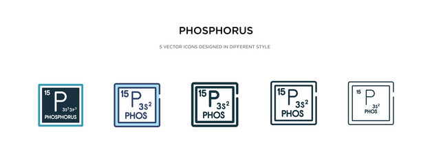 phosphorus icon in different style vector illustration. two colored and black phosphorus vector icons designed in filled, outline, line and stroke style can be used for web, mobile, ui