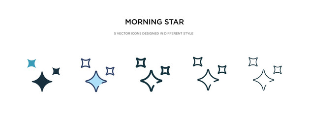 morning star icon in different style vector illustration. two colored and black morning star vector icons designed in filled, outline, line and stroke style can be used for web, mobile, ui