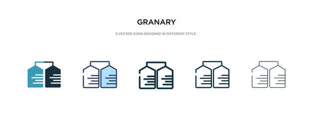 granary icon in different style vector illustration. two colored and black granary vector icons designed in filled, outline, line and stroke style can be used for web, mobile, ui