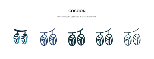 cocoon icon in different style vector illustration. two colored and black cocoon vector icons designed in filled, outline, line and stroke style can be used for web, mobile, ui