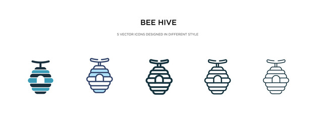 bee hive icon in different style vector illustration. two colored and black bee hive vector icons designed in filled, outline, line and stroke style can be used for web, mobile, ui