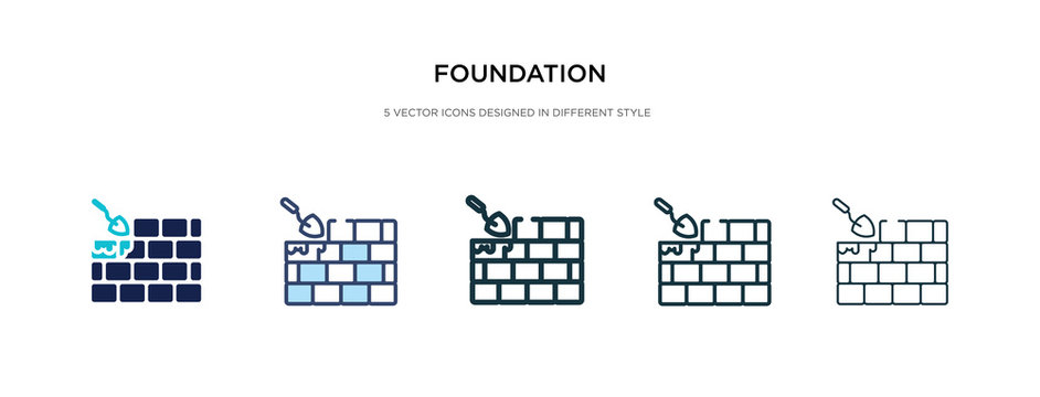 foundation icon in different style vector illustration. two colored and black foundation vector icons designed in filled, outline, line and stroke style can be used for web, mobile, ui