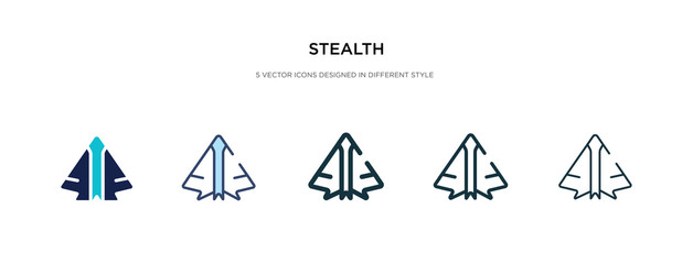stealth icon in different style vector illustration. two colored and black stealth vector icons designed in filled, outline, line and stroke style can be used for web, mobile, ui