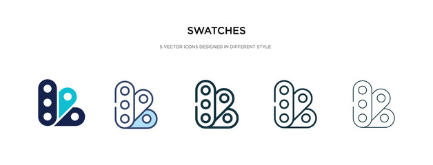 swatches icon in different style vector illustration. two colored and black swatches vector icons designed in filled, outline, line and stroke style can be used for web, mobile, ui