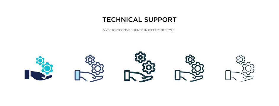 technical support icon in different style vector illustration. two colored and black technical support vector icons designed in filled, outline, line and stroke style can be used for web, mobile, ui