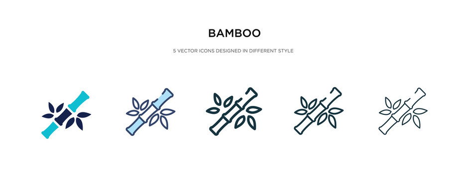 bamboo icon in different style vector illustration. two colored and black bamboo vector icons designed in filled, outline, line and stroke style can be used for web, mobile, ui