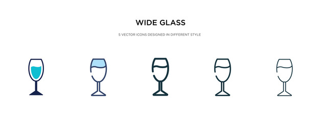 wide glass icon in different style vector illustration. two colored and black wide glass vector icons designed in filled, outline, line and stroke style can be used for web, mobile, ui