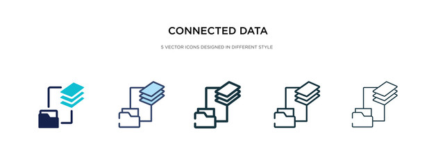 connected data icon in different style vector illustration. two colored and black connected data vector icons designed in filled, outline, line and stroke style can be used for web, mobile, ui Papier Peint