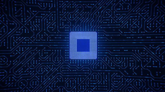 Central Computer Processor Microchip
