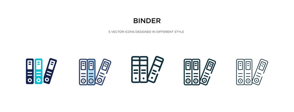 binder icon in different style vector illustration. two colored and black binder vector icons designed in filled, outline, line and stroke style can be used for web, mobile, ui