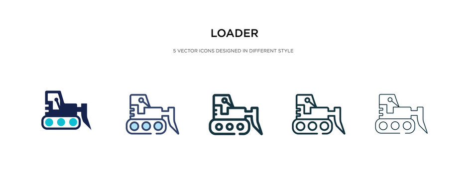 loader icon in different style vector illustration. two colored and black loader vector icons designed in filled, outline, line and stroke style can be used for web, mobile, ui
