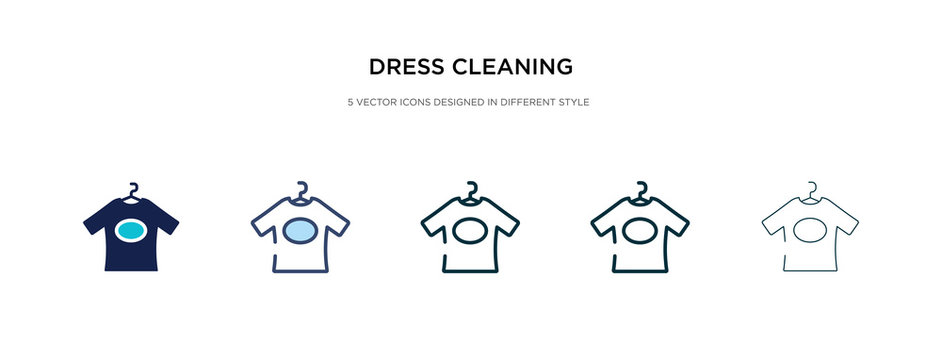 dress cleaning icon in different style vector illustration. two colored and black dress cleaning vector icons designed in filled, outline, line and stroke style can be used for web, mobile, ui