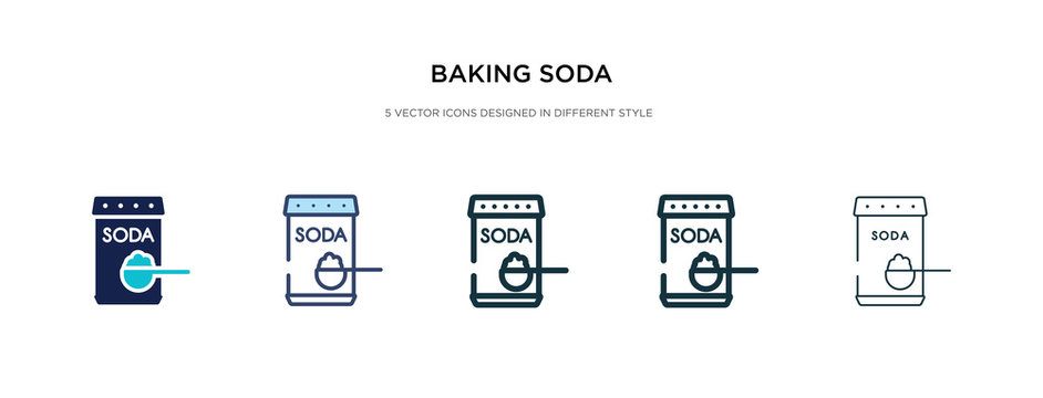 baking soda icon in different style vector illustration. two colored and black baking soda vector icons designed in filled, outline, line and stroke style can be used for web, mobile, ui