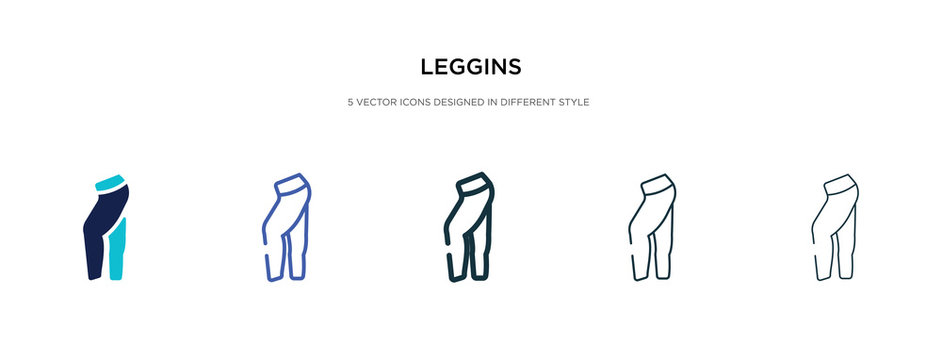 leggins icon in different style vector illustration. two colored and black leggins vector icons designed in filled, outline, line and stroke style can be used for web, mobile, ui