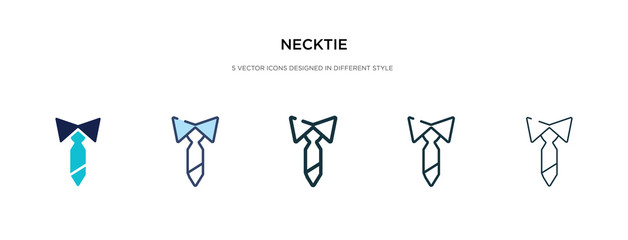 necktie icon in different style vector illustration. two colored and black necktie vector icons designed in filled, outline, line and stroke style can be used for web, mobile, ui