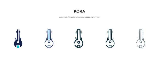 Fototapeta kora icon in different style vector illustration. two colored and black kora vector icons designed in filled, outline, line and stroke style can be used for web, mobile, ui obraz