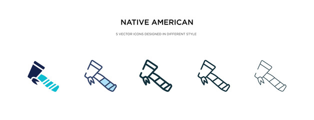 native american axes icon in different style vector illustration. two colored and black native american axes vector icons designed in filled, outline, line and stroke style can be used for web,