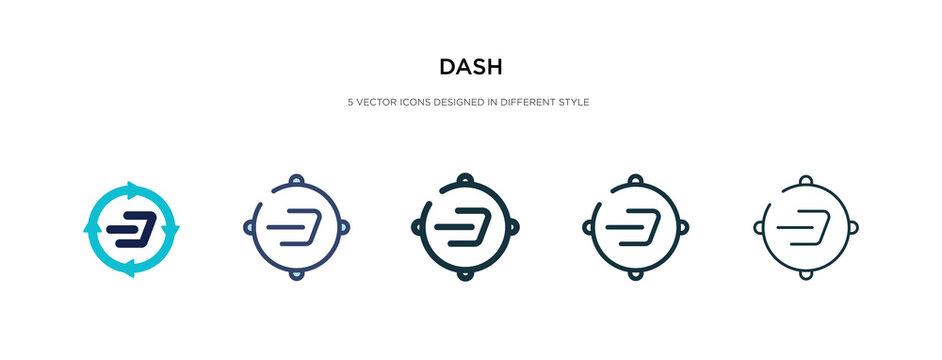 dash icon in different style vector illustration. two colored and black dash vector icons designed in filled, outline, line and stroke style can be used for web, mobile, ui