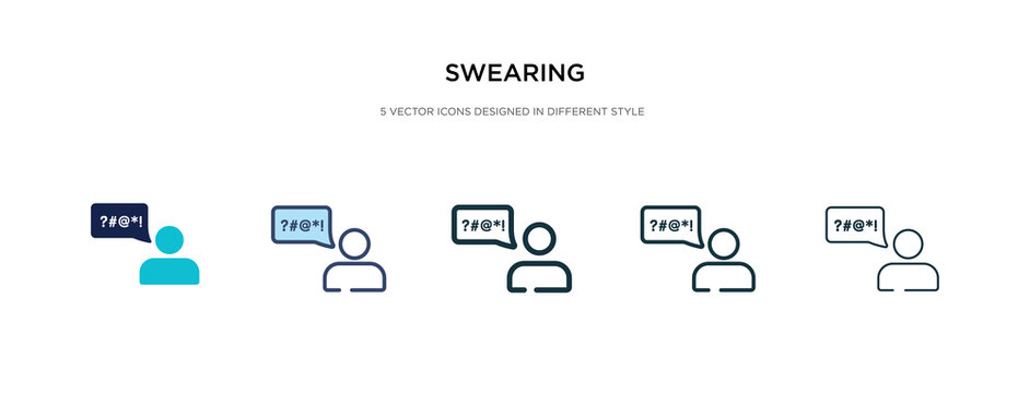 swearing icon in different style vector illustration. two colored and black swearing vector icons designed in filled, outline, line and stroke style can be used for web, mobile, ui