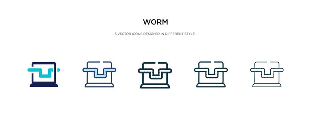 worm icon in different style vector illustration. two colored and black worm vector icons designed in filled, outline, line and stroke style can be used for web, mobile, ui