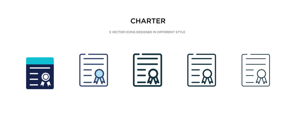 charter icon in different style vector illustration. two colored and black charter vector icons designed in filled, outline, line and stroke style can be used for web, mobile, ui