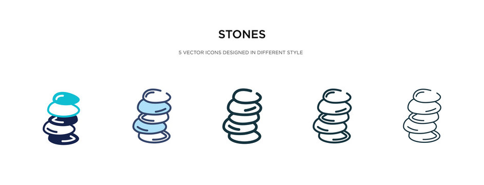 stones icon in different style vector illustration. two colored and black stones vector icons designed in filled, outline, line and stroke style can be used for web, mobile, ui