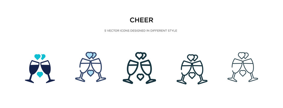 cheer icon in different style vector illustration. two colored and black cheer vector icons designed in filled, outline, line and stroke style can be used for web, mobile, ui