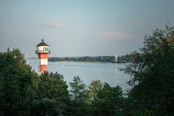 Leuchtturm an der Elbe bei Wittenbergen