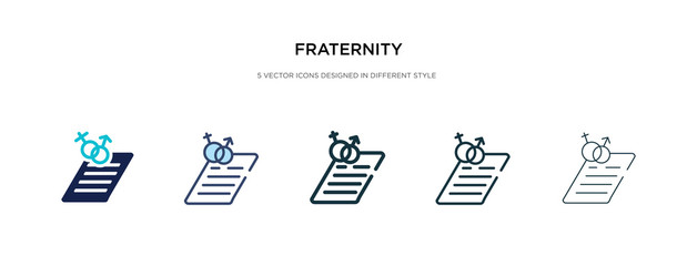 fraternity icon in different style vector illustration. two colored and black fraternity vector icons designed in filled, outline, line and stroke style can be used for web, mobile, ui