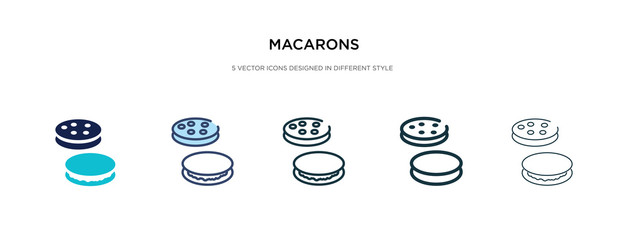 Spoed Foto op Canvas Macarons macarons icon in different style vector illustration. two colored and black macarons vector icons designed in filled, outline, line and stroke style can be used for web, mobile, ui