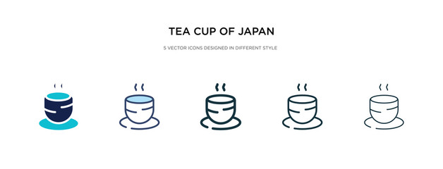 tea cup of japan icon in different style vector illustration. two colored and black tea cup of japan vector icons designed in filled, outline, line and stroke style can be used for web, mobile, ui