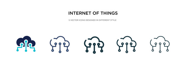 internet of things icon in different style vector illustration. two colored and black internet of things vector icons designed in filled, outline, line and stroke style can be used for web, mobile,