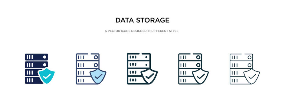 data storage icon in different style vector illustration. two colored and black data storage vector icons designed in filled, outline, line and stroke style can be used for web, mobile, ui