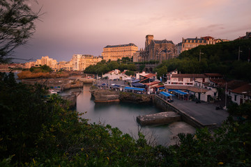 City of Biarritz with its beautiful coast, at the North Basque Country.