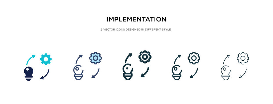 implementation icon in different style vector illustration. two colored and black implementation vector icons designed in filled, outline, line and stroke style can be used for web, mobile, ui